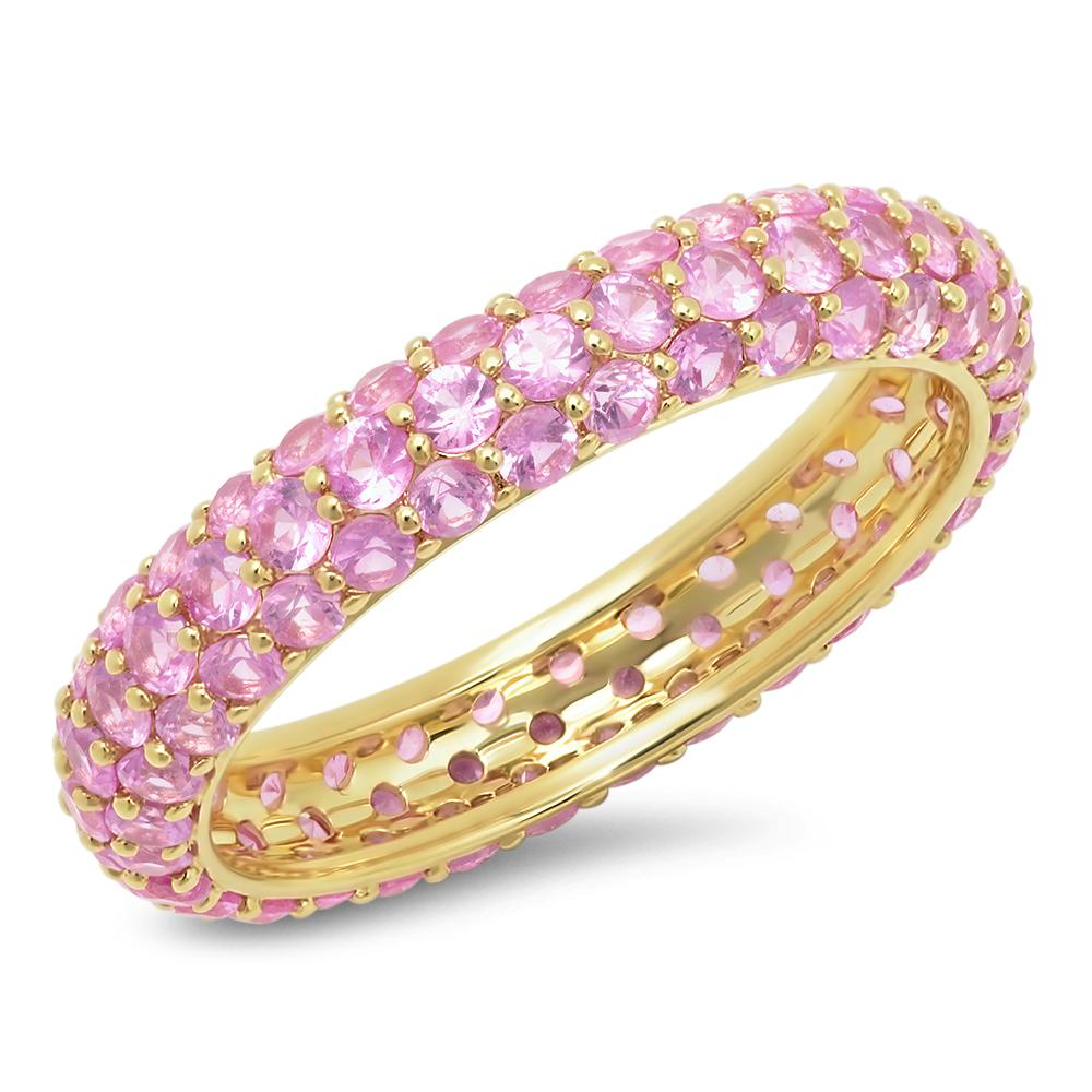 Gemstone Pave Domed Ring