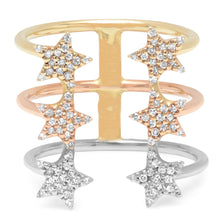 Ombre Star Pave Open Ring