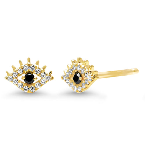 Mini Diamond Evil Eye Stud