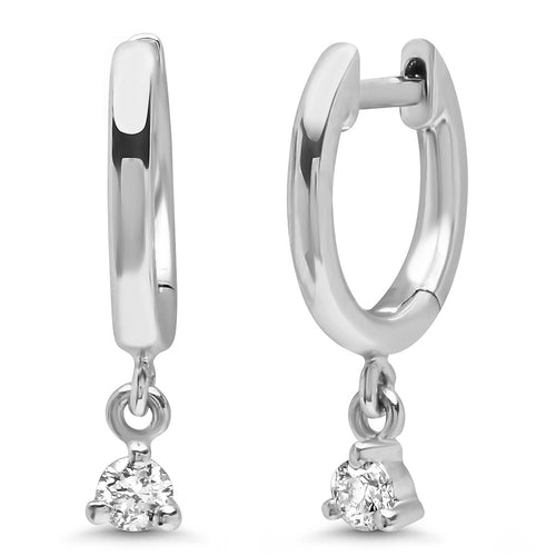Souli Diamond Dangles on High Polish Huggies