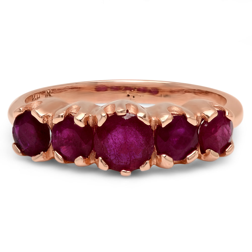 Tiara Gemstone Stacking Ring