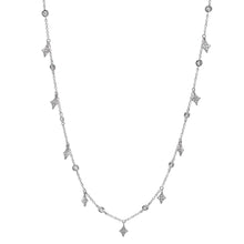 Delicate Diamond Shaped Dangles Necklace
