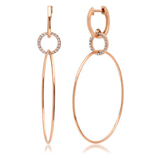 Diamond Link Triple Hoops