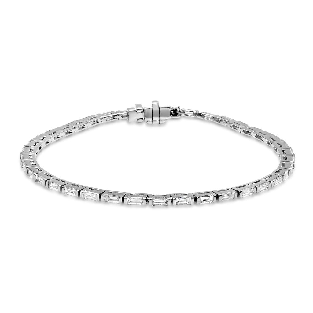 Diamond Baguette Tennis Bracelets
