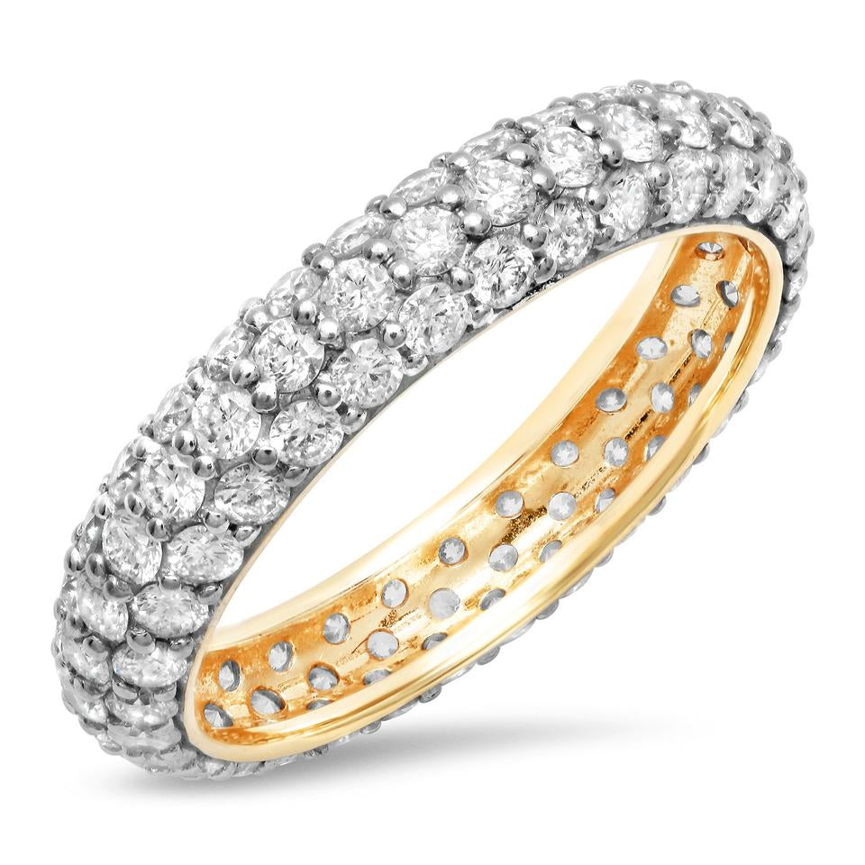 Diamond Pave Domed Ring