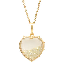 Diamond Heart Shaker Necklace