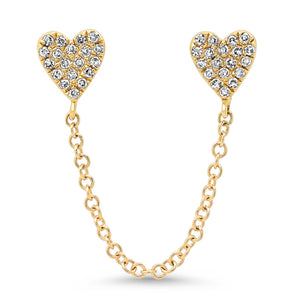 double diamond heart earring