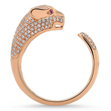 Pave Diamond Panther Ring