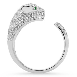 diamond panther ring