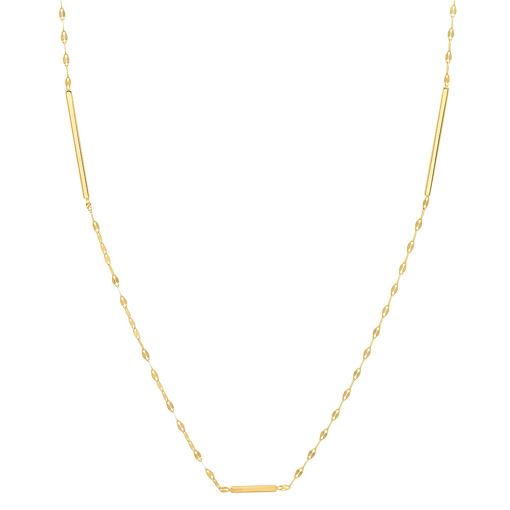 diamond chain layering necklace