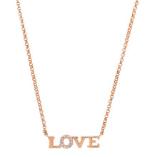 Delicate diamond love necklace