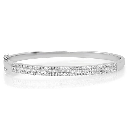 Sleek Baguette Diamond Cuff