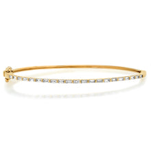 Skinny Baguette Diamond Bangle Bracelet