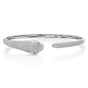 Diamond Panther Cuff Bracelet