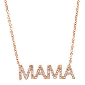 Diamond Mama Nameplate Necklace