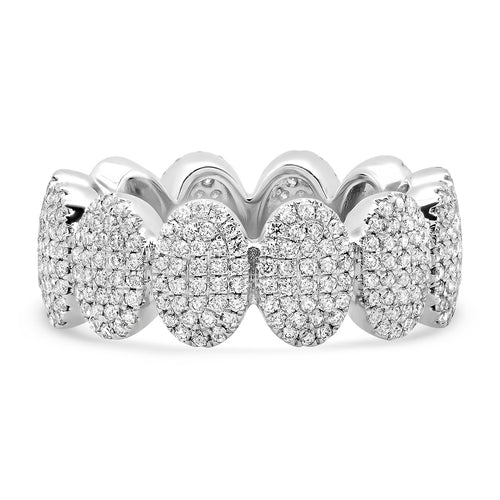 Pave Diamond Oval Eternity Band