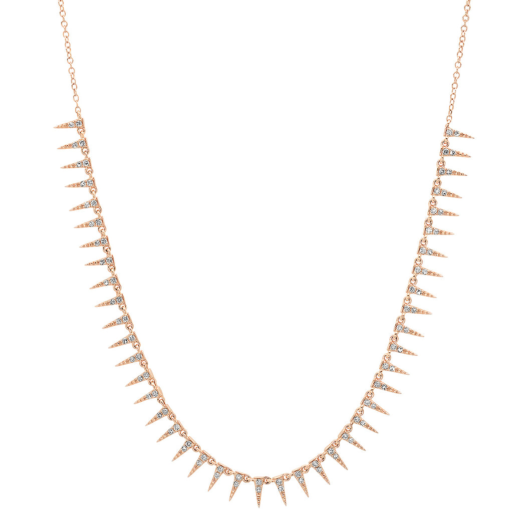Delicate Diamond Spikes Necklace