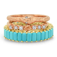 The Ashleigh Bergman Collective x Eriness Turquoise Baguette Eternity Band Ring