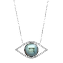 The Ashleigh Bergman Collective x Samira 13 Diamond & Pearl Evil Eye Necklace