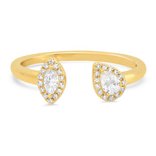 Marquis & Pear Shaped Diamonds Open Ring