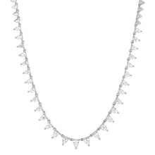 Pear Shaped Diamond Tiara Necklace