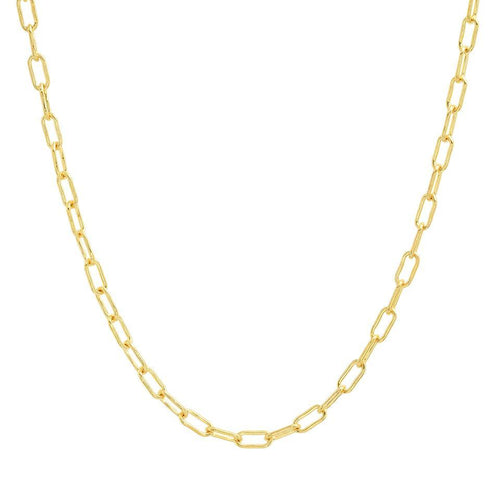 Thin Gold Drawn Link Chain Necklace