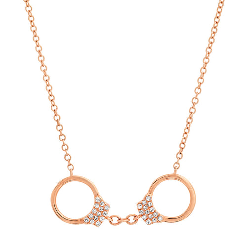 Dainty Diamond Handcuff Necklace