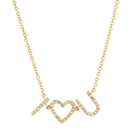 I  LOVE U diamond necklace