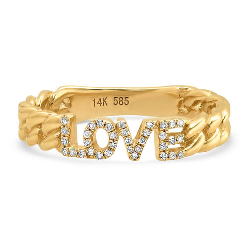 Thin Chain Love Ring