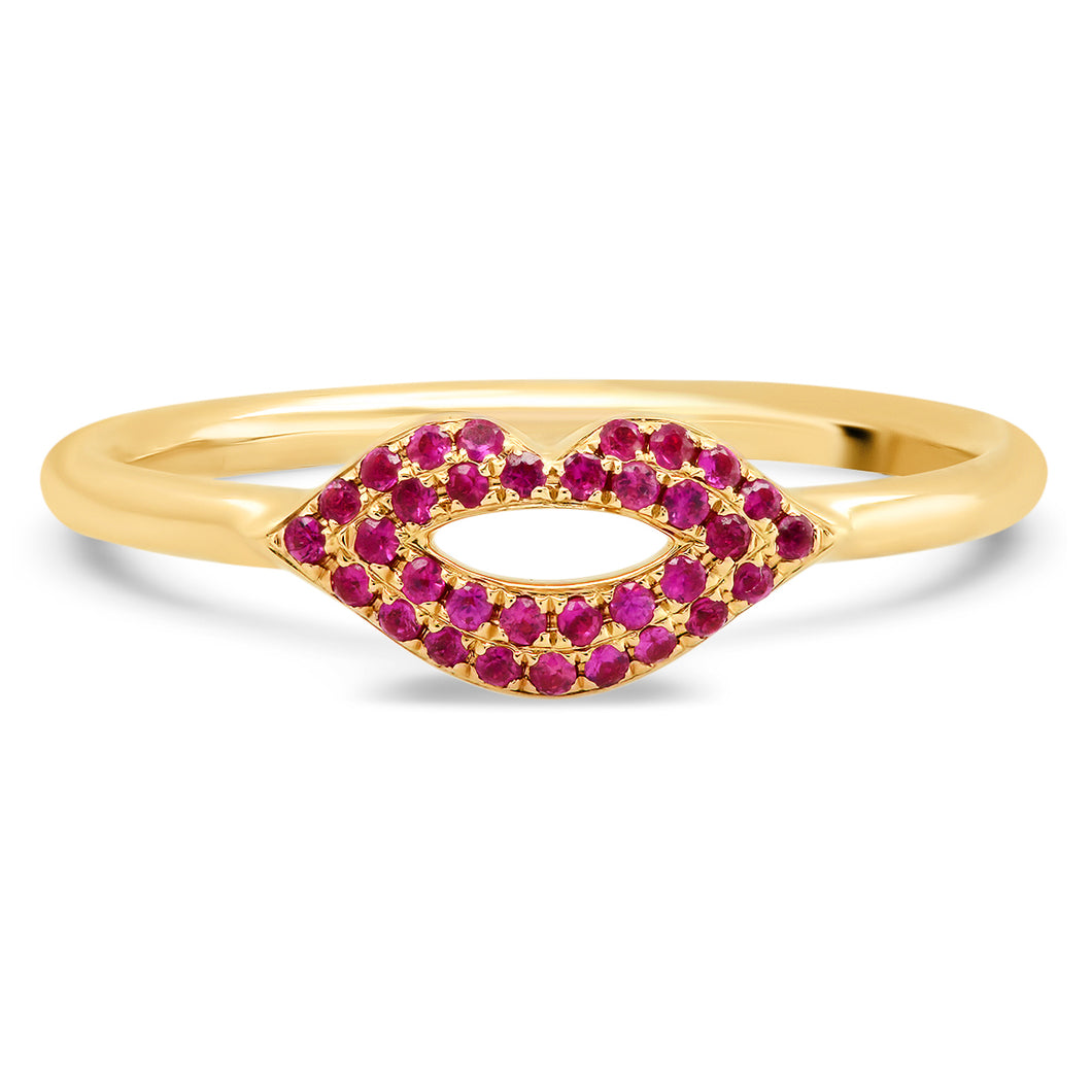 Ruby Lips Kiss Ring