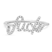 Cursive Diamond Fuck Ring