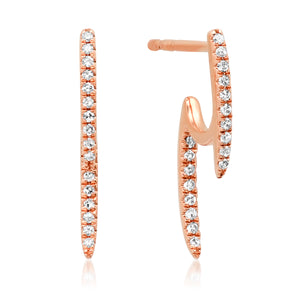 Double Spike Illusion Earrings