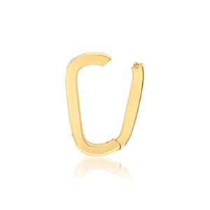 Small 14k Diamond Rectangular Charm Clip Holder Enhancer