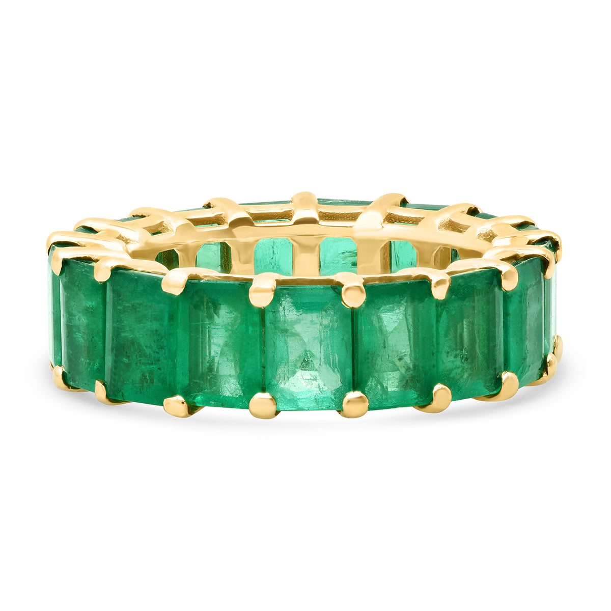 Jumbo Emerald Cut Emerald Eternity Band Ring