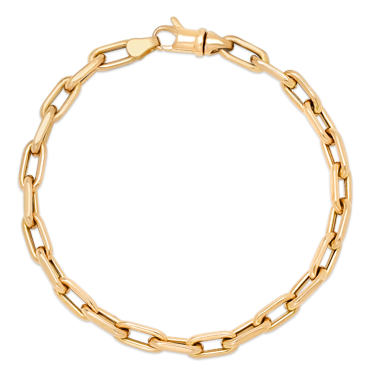 Luxe Link Drawn Gold Cable Chain Bracelet