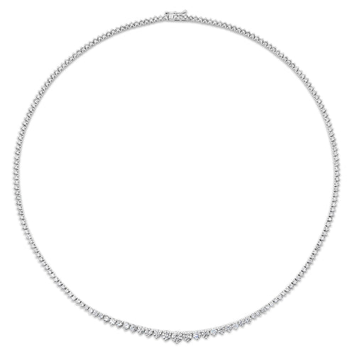 Essential Graduated Diamond Riviera Tennis Necklace