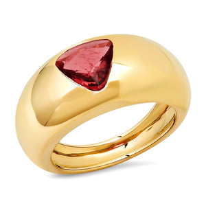 Padparadscha Spinel Gem Dome Ring