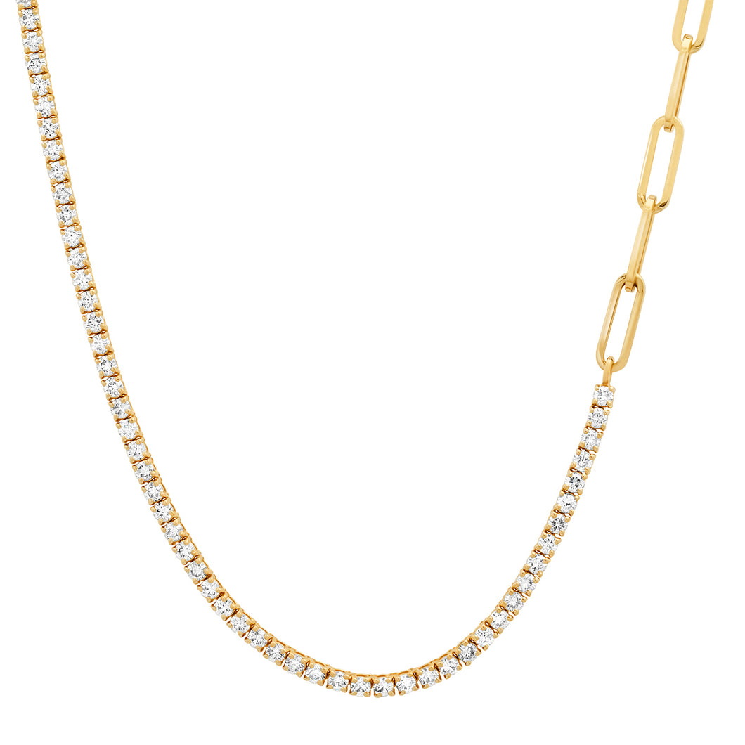 Best of Both 50/50 Diamond Tennis / Chain Necklace