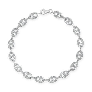 Diamond Mariner Chain Bracelet