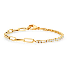 Best of Both 50/50 Diamond Tennis / Chain Bracelet