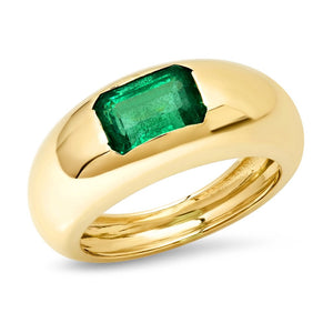 Emerald Gem Dome Ring