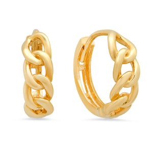 Cuban Link Chain Huggie Earrings
