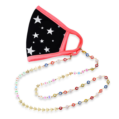Don't Wake The Dreamer Star & Evil Eye Mask Chain