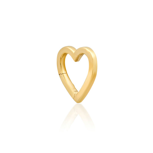 14k High Polish Heart Charm Clip Holder Enhancer