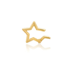 14k High Polish Star Charm Clip Holder Enhancer