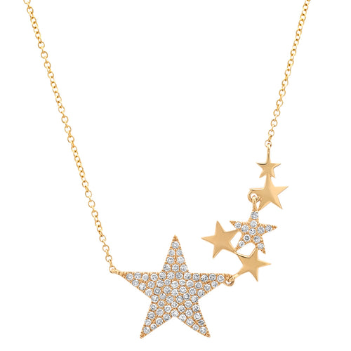 Diamond Star Cluster Necklace