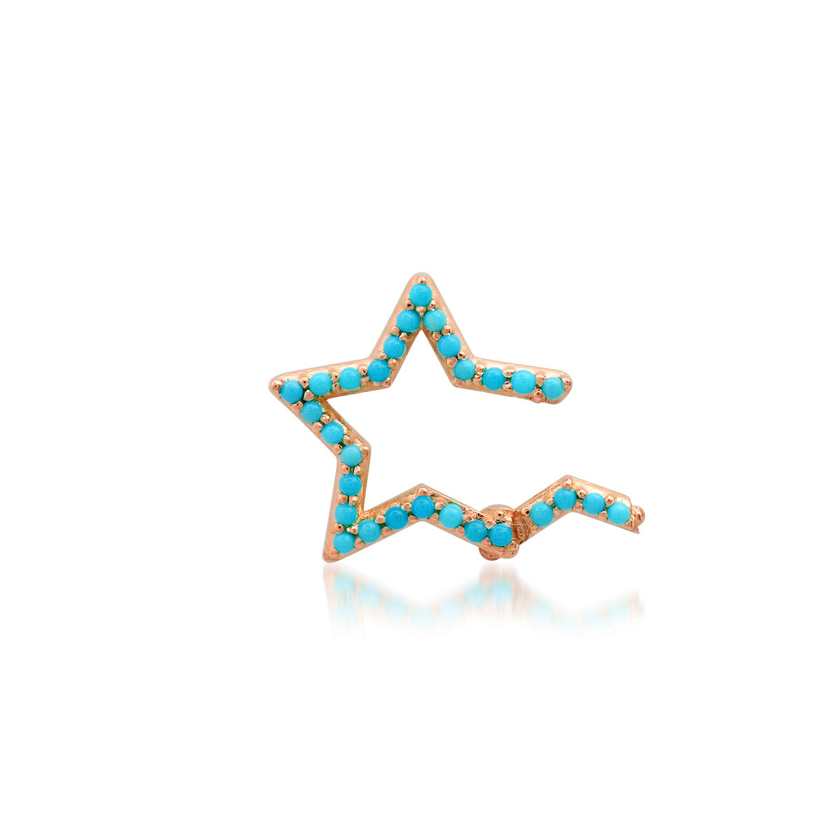 Double Sided Turquoise Star Charm Clip Holder Enhancer