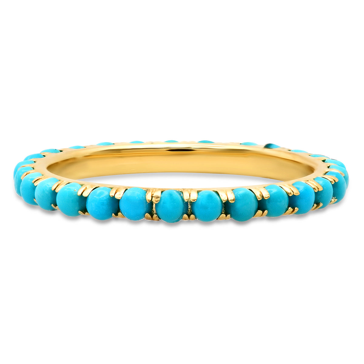 Turquoise Cabochon Eternity Stacking Ring
