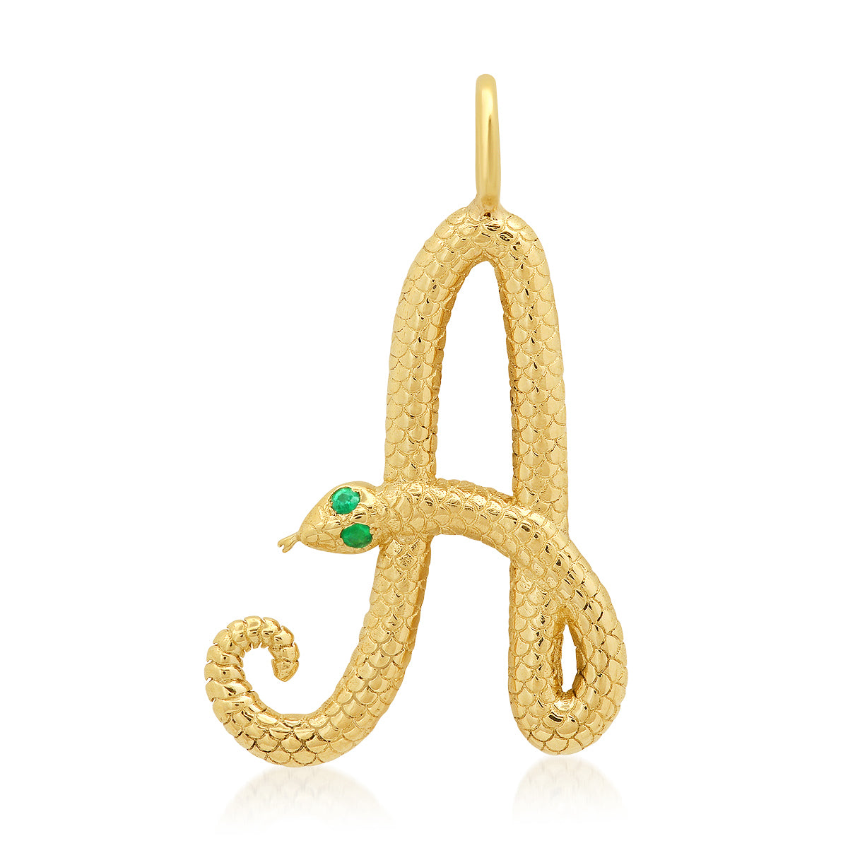 Snake Initial Charm
