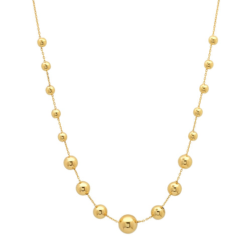 Graduated Gold Ball Baubles Necklace